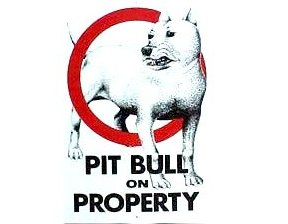 pit bull caution sign